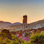 Jena, Jentower zum Sonnenaufgang