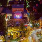 Jena, Kulturarena und Theaterhaus von Jentower aus gesehen