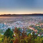 Sonnenaufgang am Landgraf in Jena