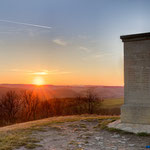 Jena, zum Sonnenuntergang am Napoleonstein
