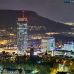 Blick vom Landgraf auf Jena nachts