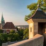 Der Erfurter Dom zum Sonnenaufgang