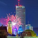 Jena, Feuerwerk zum Altstadtfest