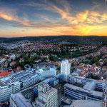Blick vom Jentower auf den Ernst-Abbe-Platz in Jena