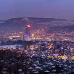 Blick vom Forst auf das winterliche Jena