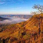 Jena, Jenzig mit Nebel im Herbst