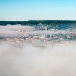 Jena schält sich aus dem Nebel