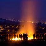 Osterfeuer in Kunitz bei Jena