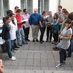 International wars dann schon, hier sind unsere Kollegen aus Italien, Ungarn und England bei einer Spontanaktion