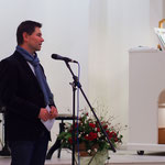 Begrüßung durch Pastor Jens Fabich