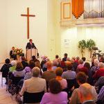 Während der Predigt