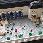 Blick in den Hof des Adventhausmodells