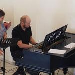 Musiker bereiten sich vor