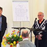 Wolfgang Buschmann spricht zu den Teilnehmern des Begegnungstages