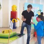 Lego-Büchsen-Werfen
