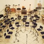 Der Saal ist bereit für die Musikerinnen und Musiker