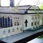 Modell des Adventhauses aus LEGO-Bausteinen