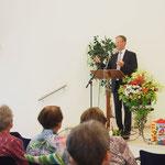 Johannes Scheel überbringt die Grüße der BM-Vereinigung