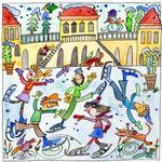 Eislaufen am Schloß Nymphenburg