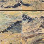 2012 Sandverwehungen, Acryl auf Papier je 20x20cm