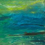 2012 Grüne Landschaft,  Acryl auf Hartfaser 60x60cm