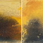 2008  Sandsturm Calima, Acryl auf Papier je 30x30cm