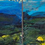2014  In Blau,  Acryl auf Papier kaschiert je 20x20cm