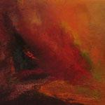2009 Vulkanfeuer, Acryl auf Leinwand  40x50cm