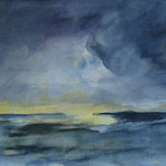 2006   Gewitterstimmung  Aquarell auf Papier  24x30cm