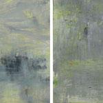 2019 Nebel,  Acryl auf Leinwand  je 20x20cm
