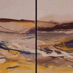 2007 La Graciosa, Acryl auf Leinwand je 30x30cm