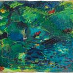2010  Am Teich,  Acryl auf Papier   90x100cm