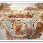 Aaron (mit dem blühenden Aaronsstab) und Moses (um 1150)