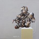 Mue Acrylique sur toile Dim: 20cmx20cm