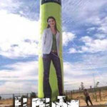 tubo publicitario gigante