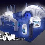Diseño de estand con inflables