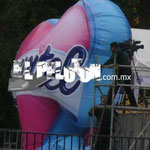 corazón inflable gigantes