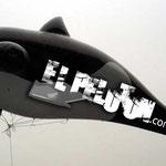 Replica ballena inflable para helio
