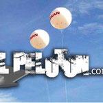 Esfera para helio d 3 metros con helio