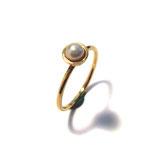 Ring in Roségold mit weißer Süßwasser-Zuchtperle