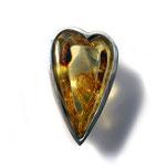 Bernstein-Herz im Silberring
