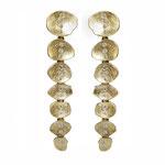 Ohrhänger in Gelbgold mit kleinen Vollschliff-Brillanten