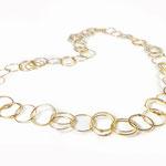 Feine Ringkette in Gelbgold 750/000