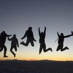 De g. à d. : Ronan, Emilie, Vincent, Julie, Birgit et Tina