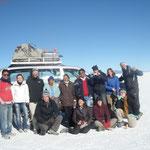 Groupe du tour (a gauche, Mario notre guide)