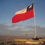 Drapeau du Chili en haut del Morro
