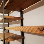 Particolare della texture del legno di recupero
