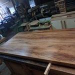 piano tavolo in rovere antico