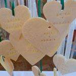 Herzplätzchen mit Name und Hochzeitsdatum