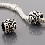"""""""X"""", Perle veredelt mit 925 Sterling Silber, versilbert, 8 x 8 mm, Loch 4,5 mm"""